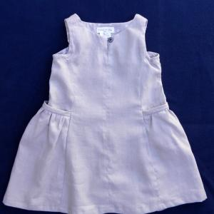 Doa 100 robe enfant lin gris linen child dress a