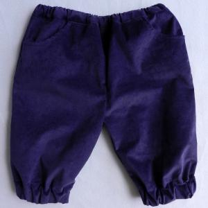 Doa 105 pantacourt enfant violet purple child capri pants a