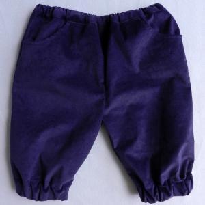 Doa 105 pantacourt enfant violet purple child capri pants a