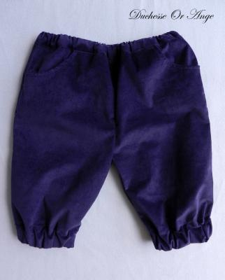 Dark purple velvet Capri pants - 3 years old