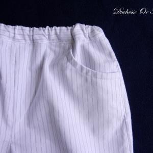 Doa 106 pantacourt enfant blanc white child capri pants b