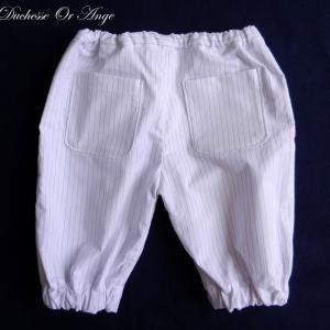 Doa 106 pantacourt enfant blanc white child capri pants c