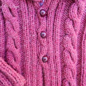 Doa 115 b veste capuche laine bordeaux bebe wool hooded burgundy baby jacket