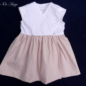 Doa 117 a robe fille rose et blanche pink and white girl dress