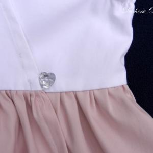 Doa 117 b robe fille rose et blanche pink and white girl dress