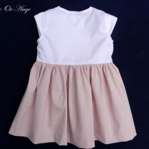 Doa 117 c robe fille rose et blanche pink and white girl dress
