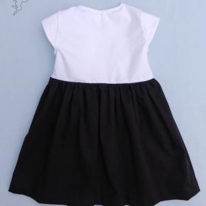 Doa 118 c robe fille marron et blanche brown and white girl dress
