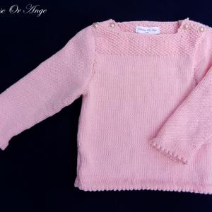 Doa 121 a pull rose 2 ans pink jumper 2 years old