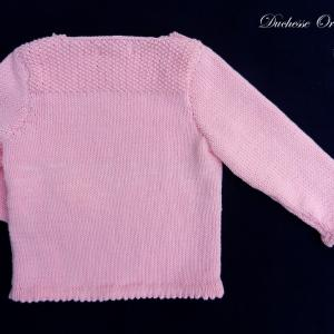 Doa 121 c pull rose 2 ans pink jumper 2 years old