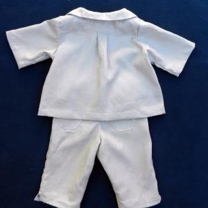 Doa 123 c ensemble bebe lin gris grey linen baby set