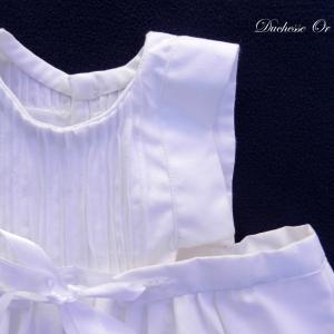 Doa 129 b robe bebe blanche ceremonie bapteme white baby dress christening