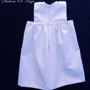Doa 129 c robe bebe blanche ceremonie bapteme white baby dress christening