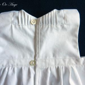 Doa 129 d robe bebe blanche ceremonie bapteme white baby dress christening