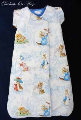 Baby sleeping bag in animal pattern cotton fabric - 6 / 24 months old