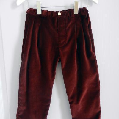 Pantalon en velours prune - 4 ans