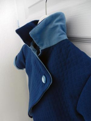 Dark blue damask coat - 6 months old