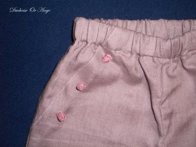 Purple linen trousers - 3 years old