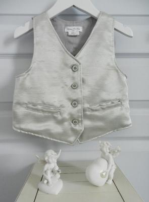 Silver silk waistcoat - 6 years old