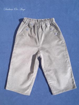 Pantalon en velours gris foncé - 3 ans