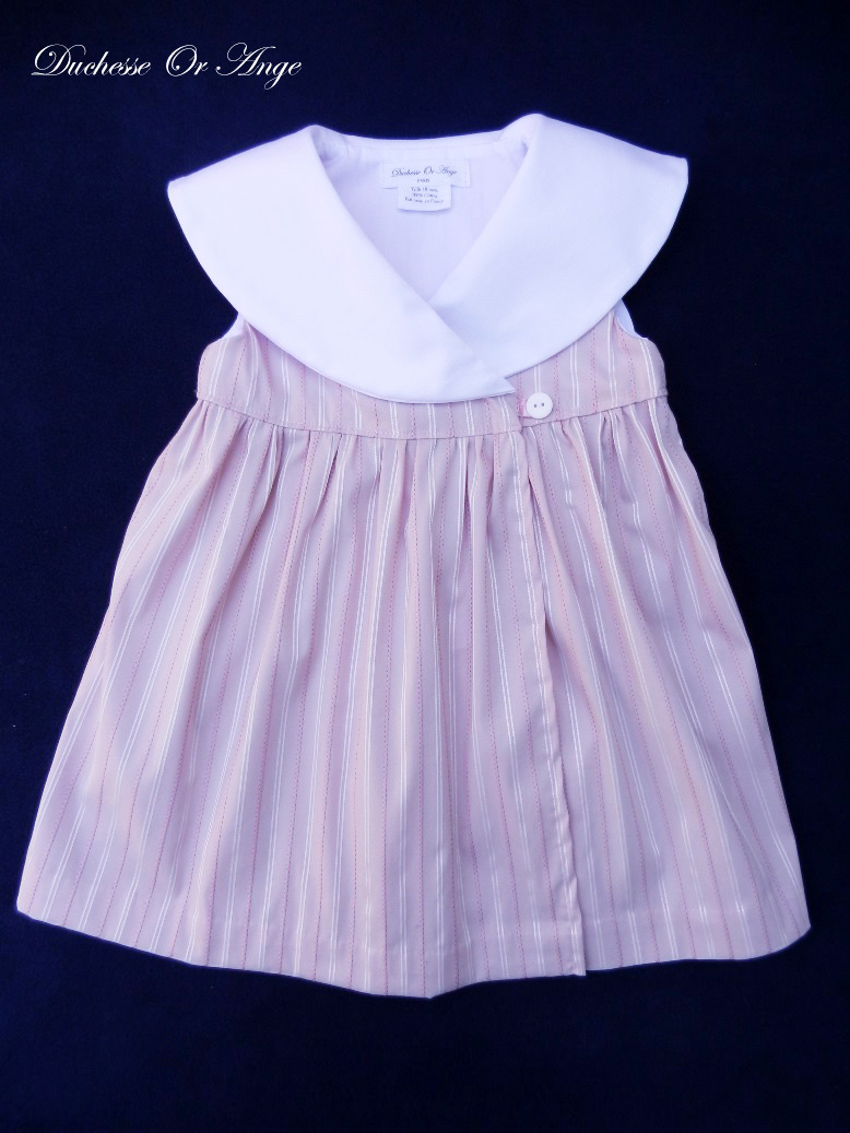 Doa 87 a robe bebe croisee rose col chale shawl collar pink baby wrapover dress 1