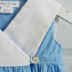 Doa 88 f robe bebe croisee bleu col marin sailor collar blue baby wrapover dress