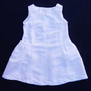 Doa 99 robe enfant lin blanc white linen child dress a