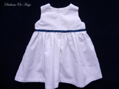 White plumetis cotton dress - 6 months old
