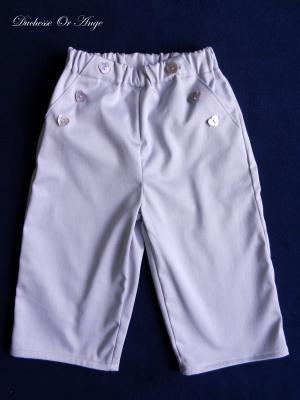 Light purple satin cotton trousers - 2 years old