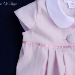 Doa 77 b robe b b rose col claudine peter pan collar pink baby dress