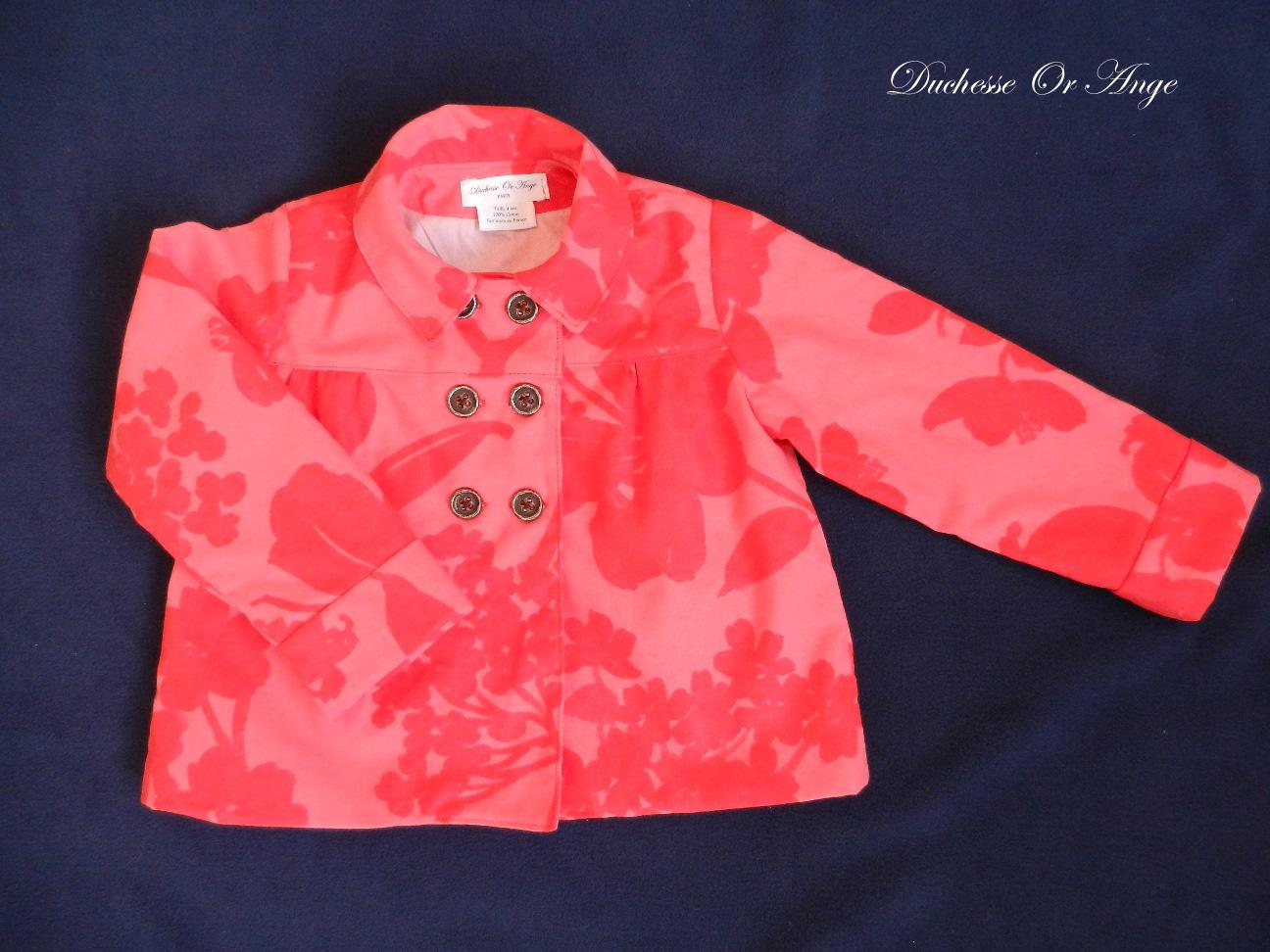 Doa 80 veste enfant rouge et rose red and pink child jacket a