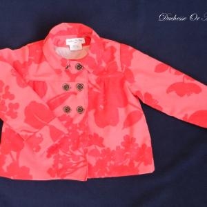 Doa 80 veste enfant rouge et rose red and pink child jacket a
