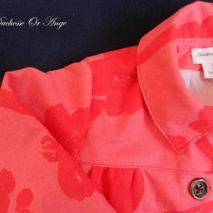 Doa 80 veste enfant rouge et rose red and pink child jacket b