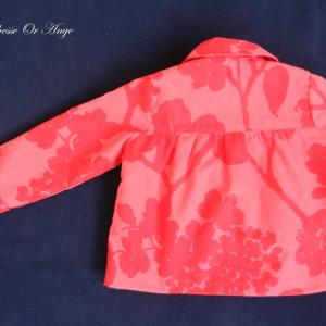 Doa 80 veste enfant rouge et rose red and pink child jacket c