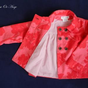 Doa 80 veste enfant rouge et rose red and pink child jacket d