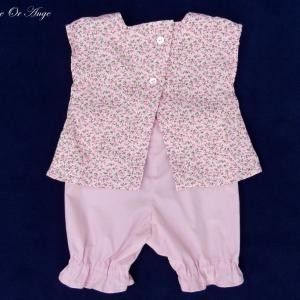 Doa 82 c ensemble b b rose pink baby top and short set