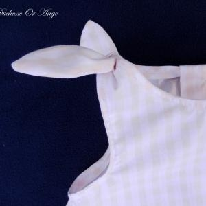 Doa 83 b ensemble b b vichy gingham baby top and short set