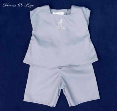 Grey baby top and shorts set - 6 months old