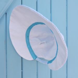 Doaa 13 b duchesse or ange chapeau casquette bebe carreaux bleu blanc