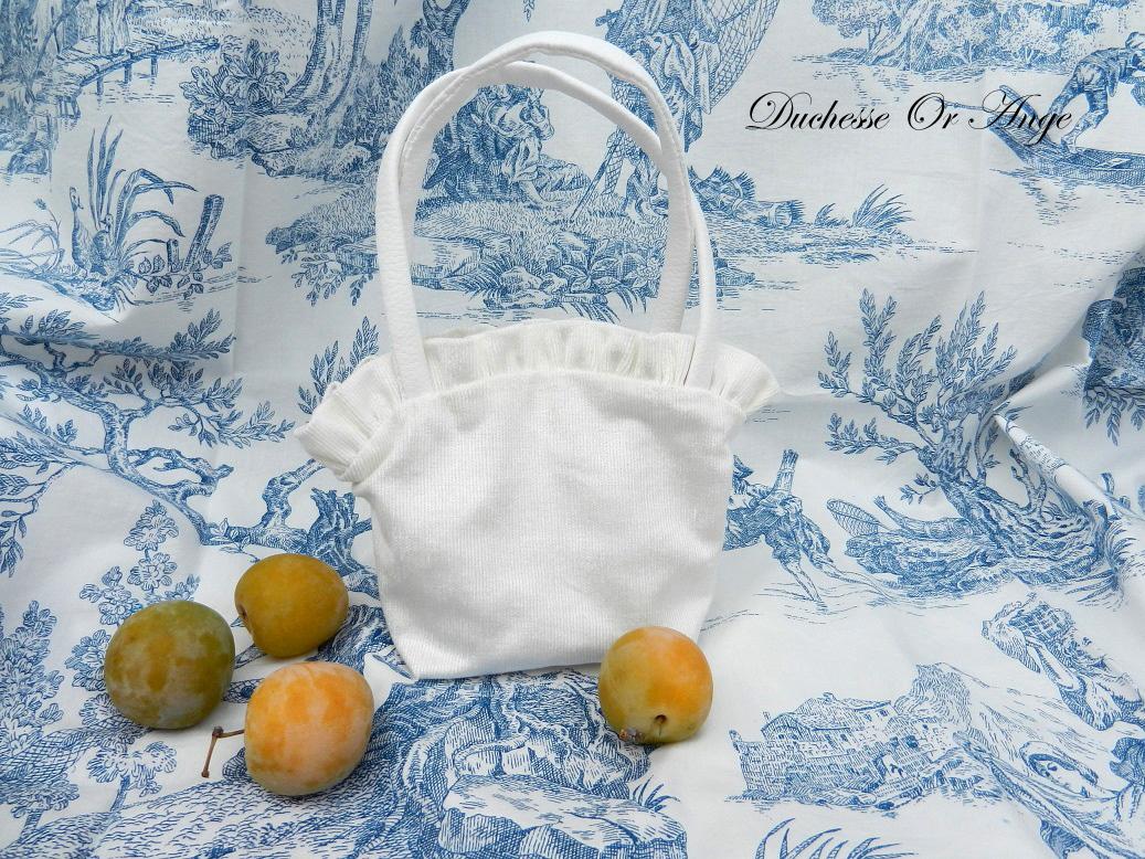 Doaa 2 a sac fille velours blanc white velvet girl bag