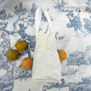 Doaa 2 b sac fille velours blanc white velvet girl bag