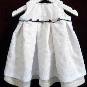 Duchesse or ange 226 a robe bebe bapteme broderie anglaise blanche