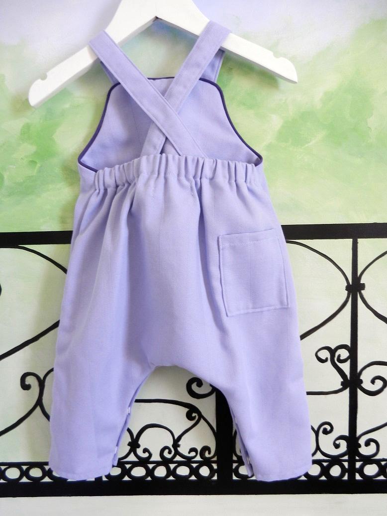 Duchesse or ange 227 c salopette bebe1 an bleu violet