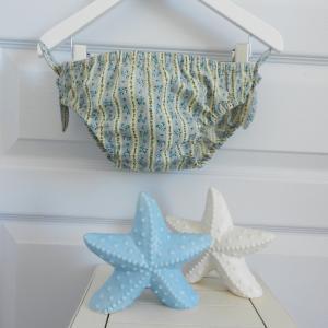 Duchesse or ange 239 a maillot de bain bebe enfant fille fillette jaune fleurs bleues roses noeuds