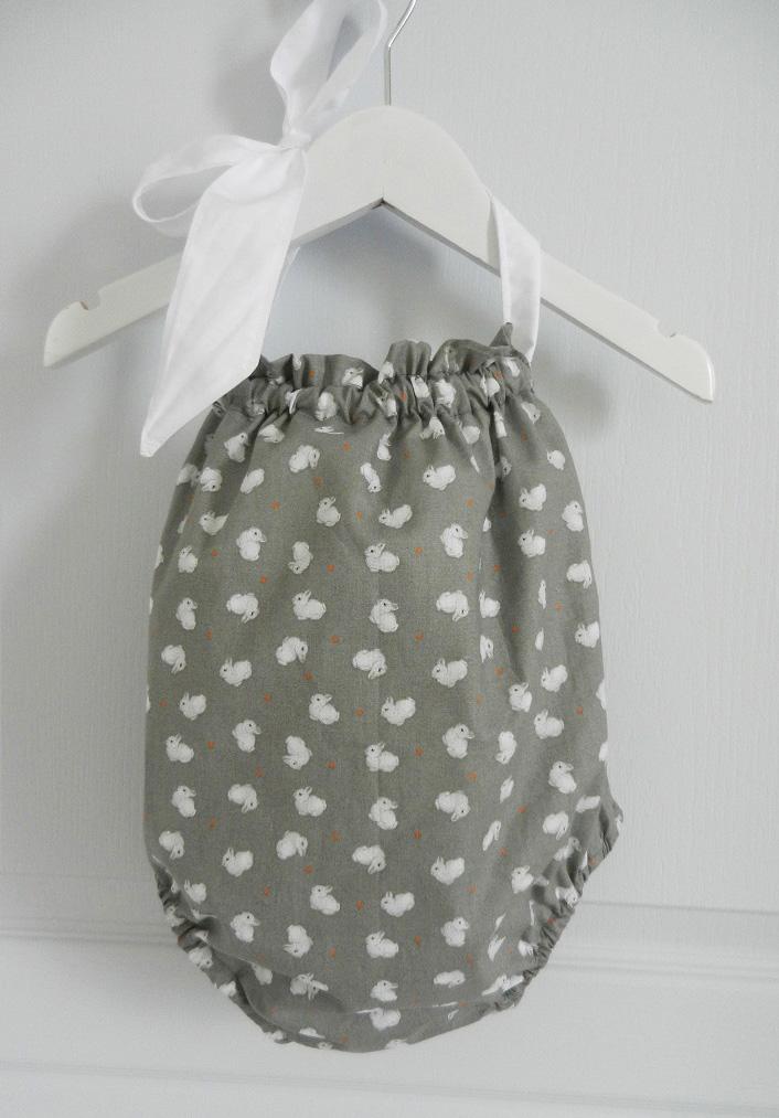 Duchesse or ange 242 a maillot de bain bebe enfant fille fillette gris lapin noeud blanc