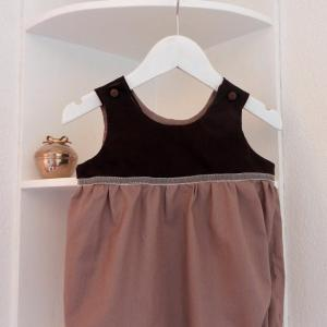 Duchesse or ange 246 a barboteuse bebe marron glace 12 mois brown rompers