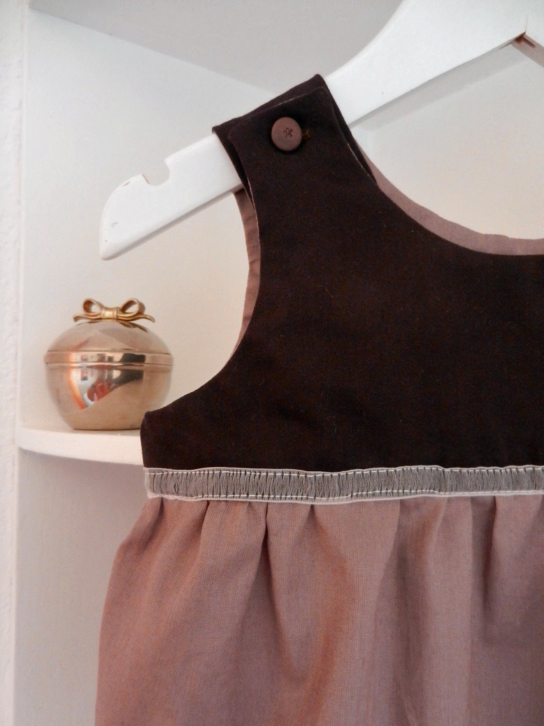 Duchesse or ange 246 b barboteuse bebe marron glace 12 mois brown rompers
