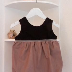 Duchesse or ange 246 c barboteuse bebe marron glace 12 mois brown rompers