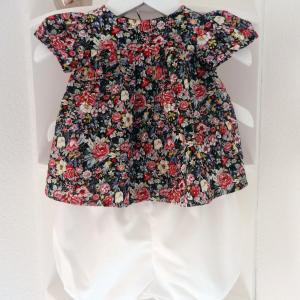 Duchesse or ange 247 a ensemble bebe top fleuri bloomer blanc 12 mois baby floral top and bloomer