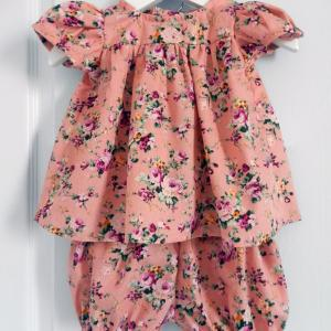 Duchesse or ange 249 a ensemble bebe blouse manche ballon rose bloomer 18 mois baby pink top and bloomer