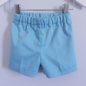 Duchesse or ange 250 c ensemble bebe mariniere short blanc bleu baby top and shorts whit blue